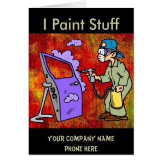 Paint Cars Card