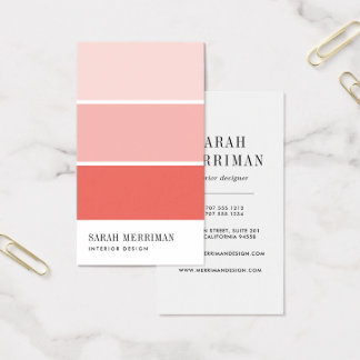 Custom Interior Design Business Cards