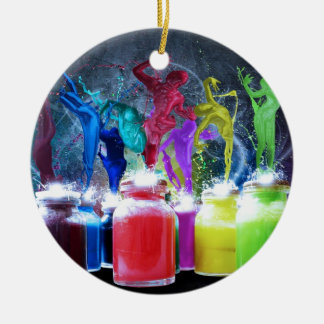 paint dancers christmas ornament