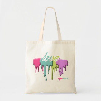 paint drip LOVE shopping bag