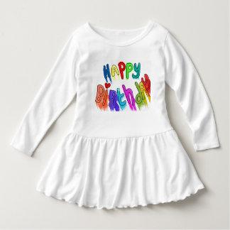 Paint Dripping Happy Birthday Dress