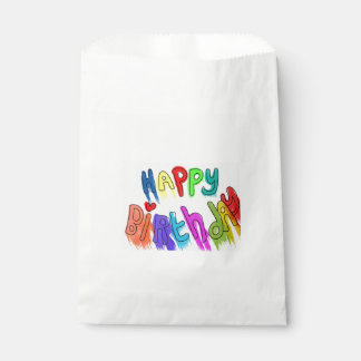 Paint Dripping Happy Birthday Favour Bags