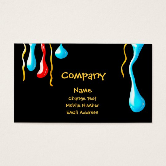 Paint Drips Business Card