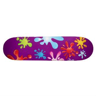 Paint Explosion Custom Skateboard