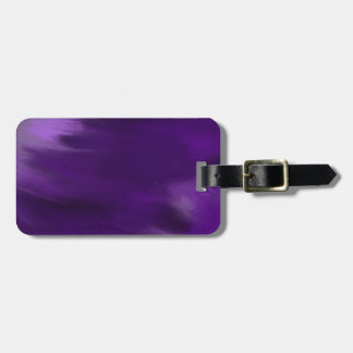 paint explosion in purple. luggage tag