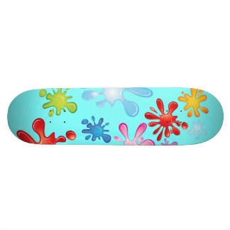 Paint Explosion Skate Board