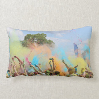 Paint Festival Lumbar Cushion