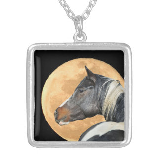 Paint Horse And Full Moon Necklace
