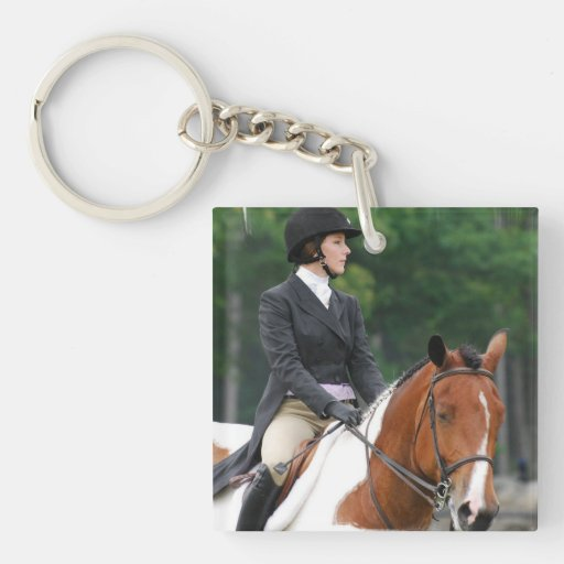 Paint Horse at Show Acrylic Keychain