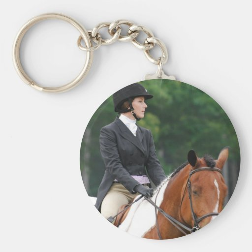 Paint Horse at Show Keychain