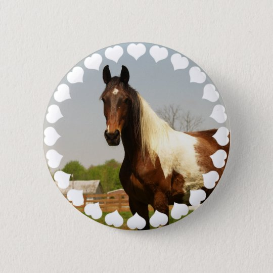 Paint Horse Button