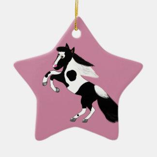 Paint Horse Ceramic Star Decoration