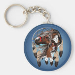 Paint Horse Dreamcatcher Keychains