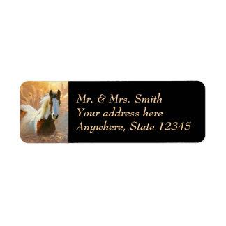 Paint Horse Gold Return Address Labels