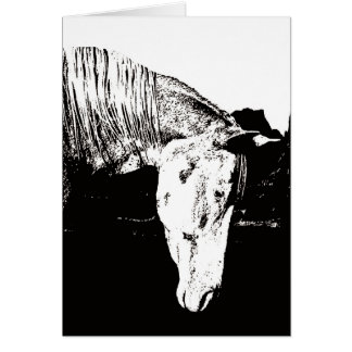 Paint Horse in the Badlands II Greeting Card