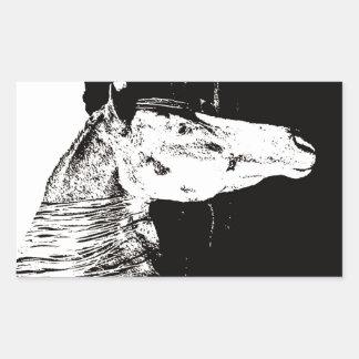 Paint Horse in the Badlands II Rectangular Sticker