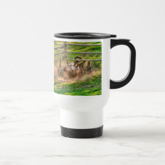 Paint Horse Rolling in Dust Funny Equine Photo Coffee Mugs