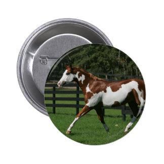 Paint Horse Running 1 6 Cm Round Badge