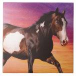 Paint Horse Sunrise Tile
