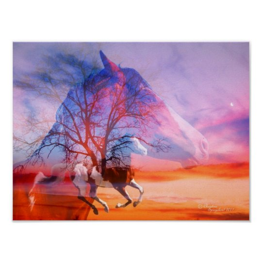 Paint Horse Tree Dreams Poster