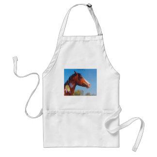 Paint Horse War Pony Feathers Apron