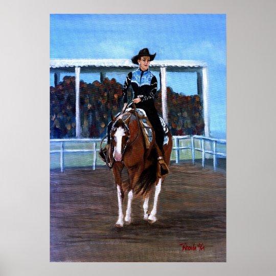Paint Horse Western Pleasure Portrait Poster