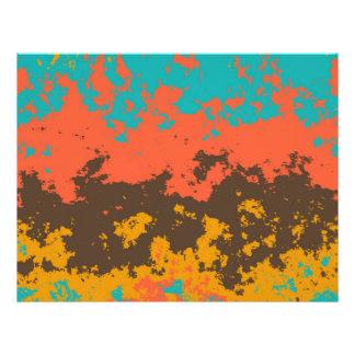Paint in retro colors 21.5 cm x 28 cm flyer