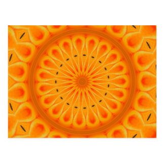 Paint it orange - fresh mandala art postcard