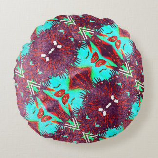 Paint Me Perfect Trippy Grunge Round Cushion