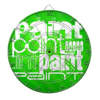 Paint; Neon Green Stripes Dart Board