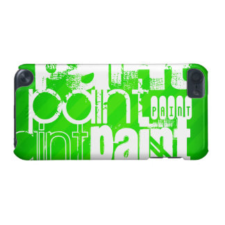 Paint; Neon Green Stripes iPod Touch (5th Generation) Case