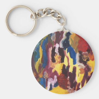 Paint Palette Abstract Key Chain