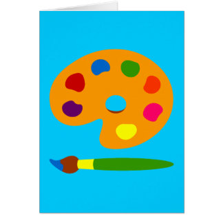 Paint Palette Art Greeting Card