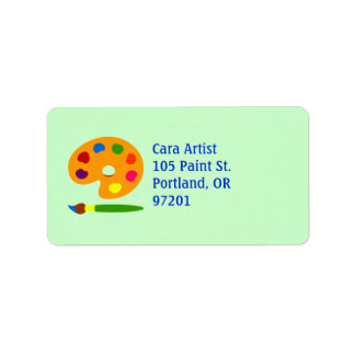 Paint Palette Art Label