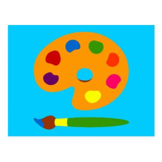 Paint Palette Art Postcard