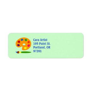 Paint Palette Art Return Address Label