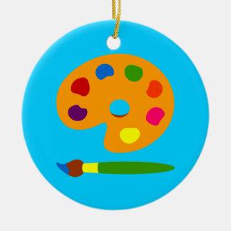 Paint Palette Art Round Ceramic Decoration
