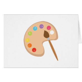 Paint Palette Greeting Card