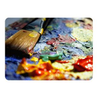 Paint Palette Closeup Card