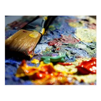 Paint Palette Closeup Postcard