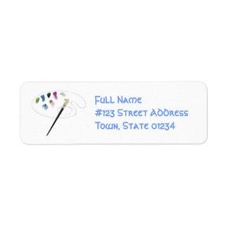 Paint Palette Mailing Labels