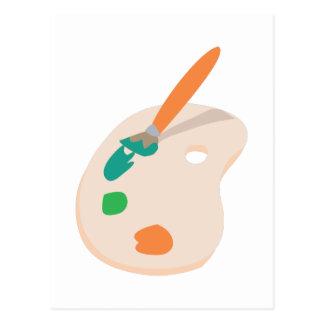 Paint Palette Postcard