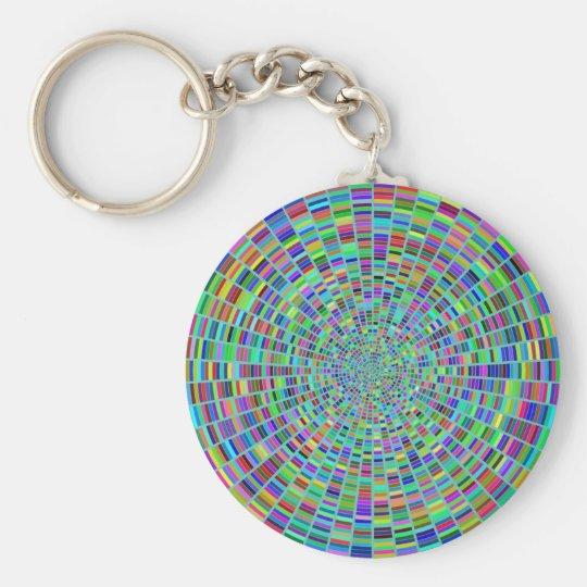Paint Palette Vortex Customise Colour Wheel Basic Round Button Key Ring