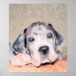 Paint: Puppy Dane Poster