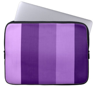 Paint purple violet retro stripes 2 laptop sleeve