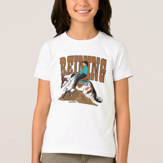 Paint Reining Horse Girls Ringer T-Shirt