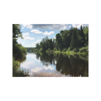 Paint River in Michigan on Canvas