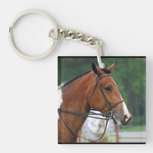 Paint Show Horse Square Acrylic Keychain