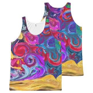 paint splash All-Over print tank top