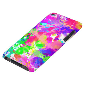 Paint splash colourful barely there iPod cases